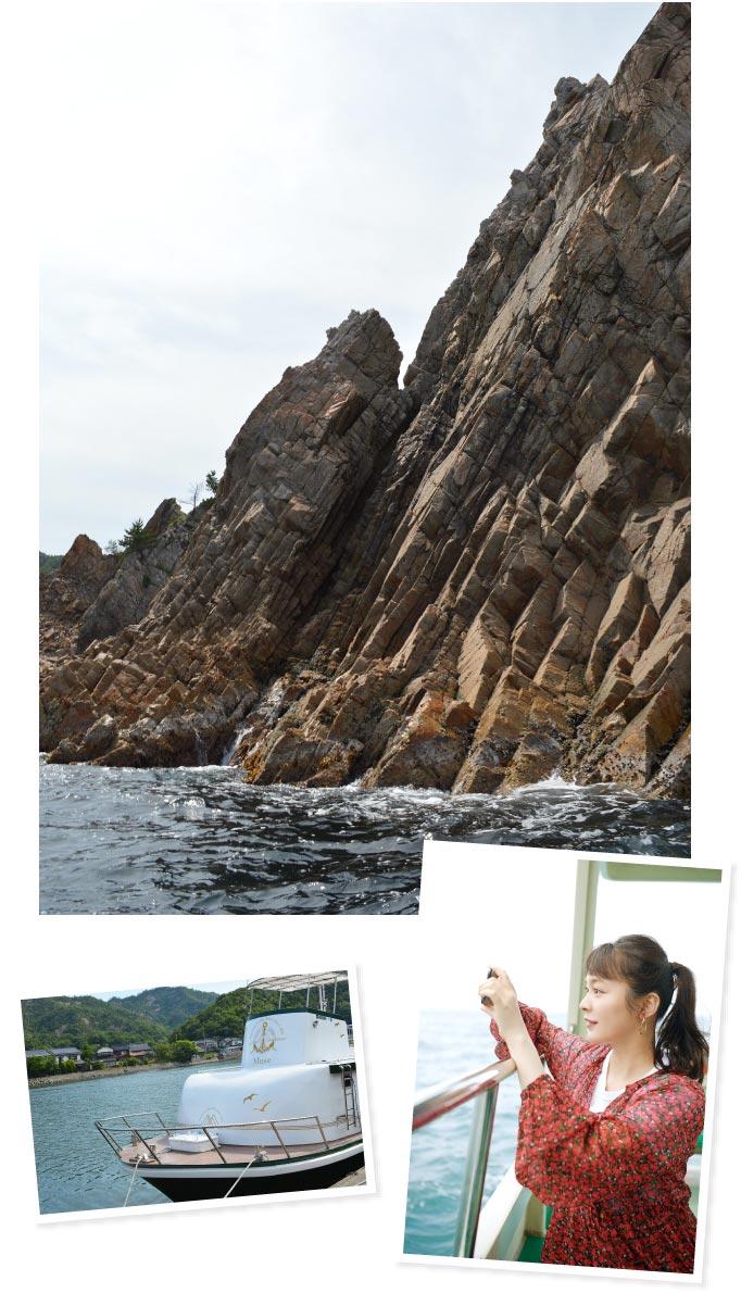 """""""山陰の松島""""と呼ばれる多島美を船から楽しむ"""