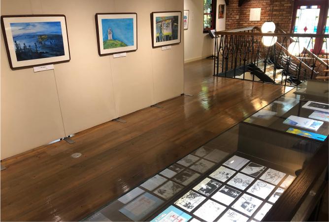 8月27日~11月24日は、長谷川集平氏の個展「サルコーデ・ナガサキ 第三章 秋」を開催
