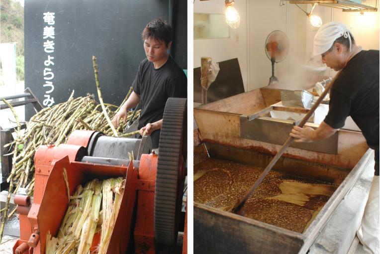黒糖の製造工程を見学&黒糖スイーツでのんびり