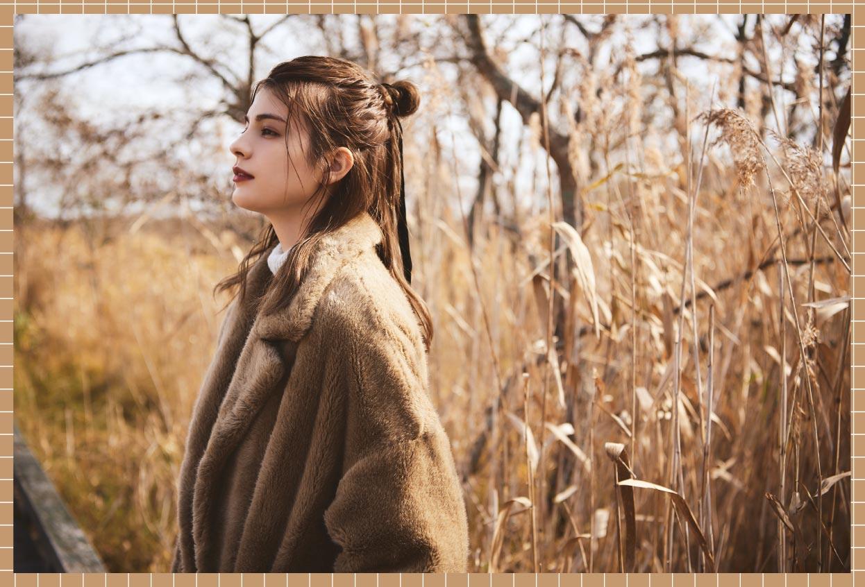 釧路湿原に佇むマギーさん
