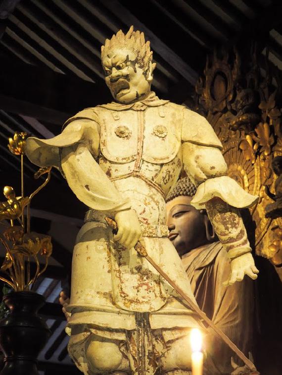 薬師如来を守る12の武将の一人「伐折羅(バザラ)大将」(新薬師寺)