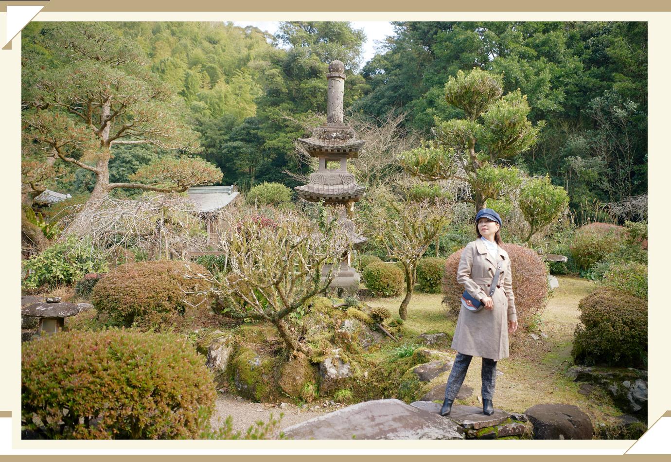 塚崎の大楠・塚崎古墳群を訪れた真矢ミキさん