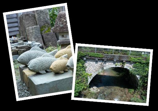 滝ケ原石切場で小松の石文化に触れる体験を