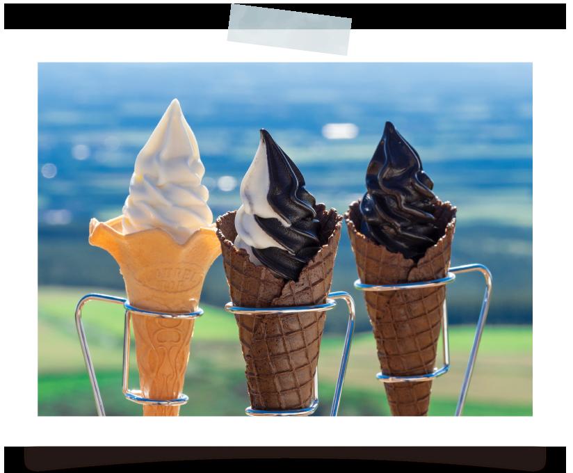 広大な牧場を眺めながら 絶品ソフトクリームを味わう ナイタイテラス