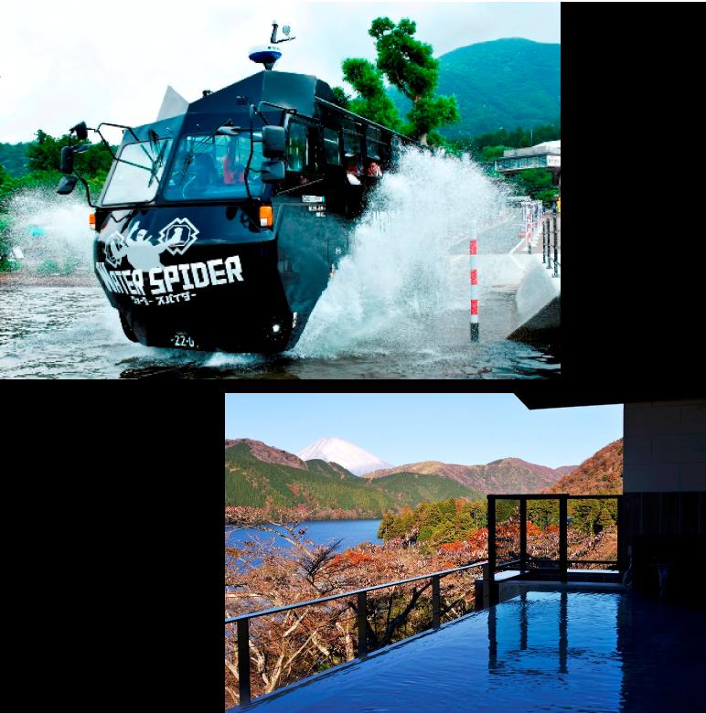 水陸両用バスで冒険気分満喫 NINJABUS乗車券 & 龍宮殿本館入浴ランチ付きペアチケット