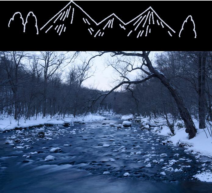 雪の奥入瀬渓流で氷瀑・氷柱に圧倒される