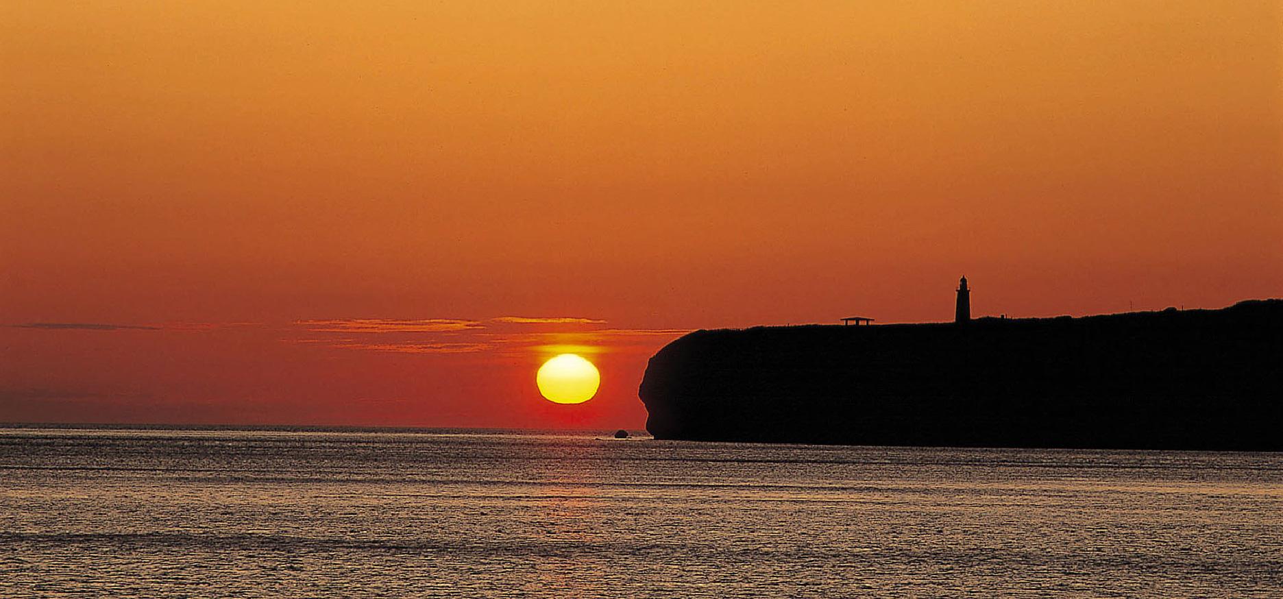 オホーツク海につき出た見晴らしのいい能取岬