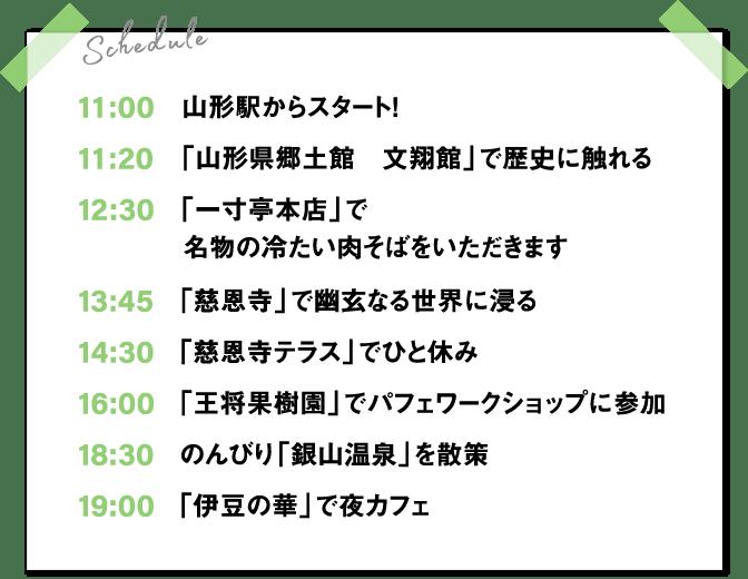 1日目スケジュール