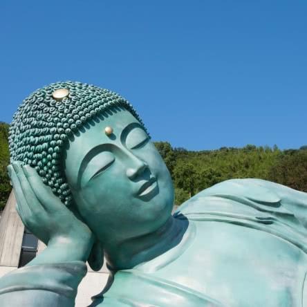 世界最大の涅槃像を見学 友達と福岡の南蔵院へ