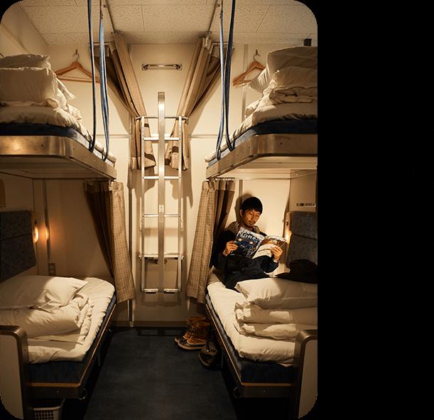 写真家・浅田政志の宿旅 「Train Hostel 北斗星」(東京都)